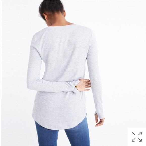 190c4d7e3c5c59 Madewell Tops - Madewell grey anthem scoop long-sleeve tee shirt